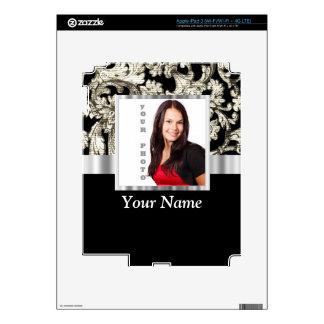 plantilla floral blanco y negro de la foto iPad 3 skin