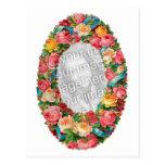 Plantilla floral de la foto del vintage lindo postales