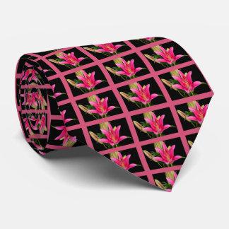 Plantilla floral de los regalos de la flor rosada corbatas