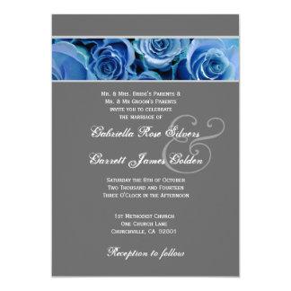 """Plantilla floral del boda invitación 5"""" x 7"""""""