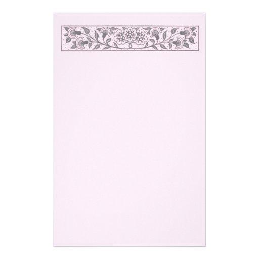 Plantilla floral del personalizable del diseño de papeleria de diseño