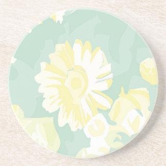 Plantilla floral del verde amarillo de Lightshade Posavasos Personalizados