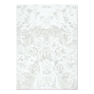 Plantilla - fondo blanco del cordón invitación 12,7 x 17,8 cm