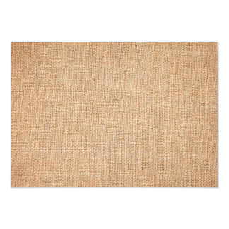 """Plantilla - fondo de la arpillera invitación 3.5"""" x 5"""""""