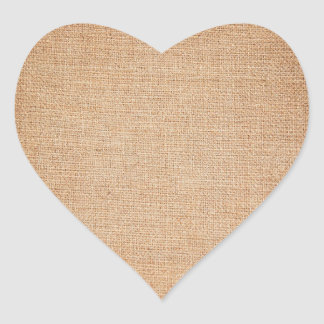 Plantilla - fondo de la arpillera pegatina en forma de corazón