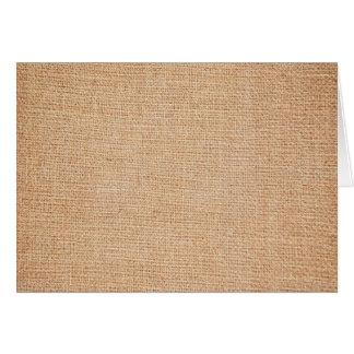 Plantilla - fondo de la arpillera tarjeta pequeña