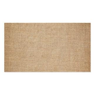 Plantilla - fondo de la arpillera tarjetas de visita