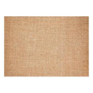 Plantilla - fondo de la arpillera tarjetas de visita grandes