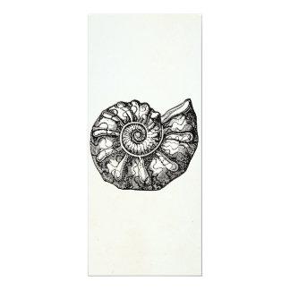 """Plantilla fósil de Shell del Seashell de la Invitación 4"""" X 9.25"""""""