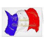 Plantilla francesa de la tarjeta de la bandera del