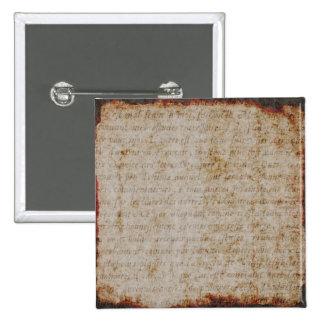 Plantilla francesa del documento de información pin cuadrada 5 cm
