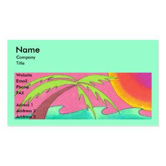 Plantilla fresca de la tarjeta de visita