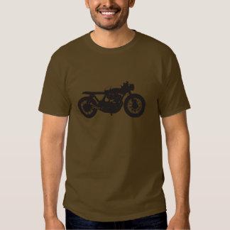 Plantilla fresca del vintage de la motocicleta del camisas