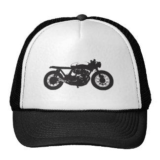 Plantilla fresca del vintage de la motocicleta del gorras