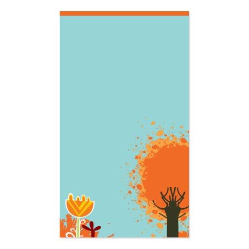 plantilla fresca y linda de la sol del businesscar plantilla de tarjeta personal