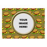 Plantilla, frontera de la hamburguesa tarjetas de visita grandes