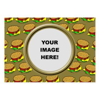 Plantilla, frontera de la hamburguesa plantilla de tarjeta personal