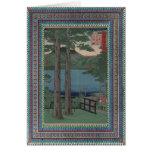 Plantilla - frontera litografiada colorida tarjeta de felicitación