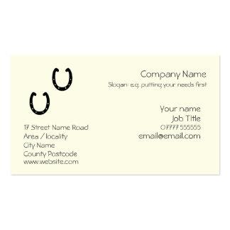 Plantilla genérica de herradura de la tarjeta de v tarjeta de negocio