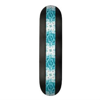 Plantilla geométrica abstracta azul del fondo skate board