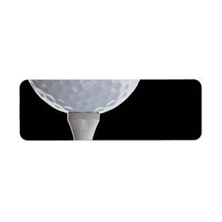 Plantilla Golfing de los deportes del fondo del ne Etiquetas De Remite