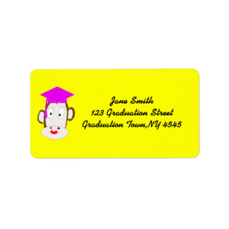 Plantilla graduada de la etiqueta del Ella-Mono Etiqueta De Dirección