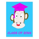 Plantilla graduada de la postal del Ella-Mono