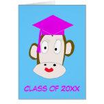 Plantilla graduada de la tarjeta del Ella-Mono