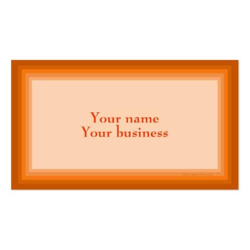 Plantilla gradual anaranjada de la tarjeta de visi tarjetas personales