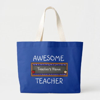 Plantilla grande de la bolsa de asas del profesor