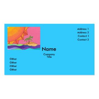 Plantilla grande de la tarjeta de visita de Sun