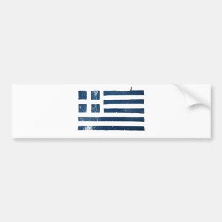 plantilla griega del grunge de la bandera pegatina para auto