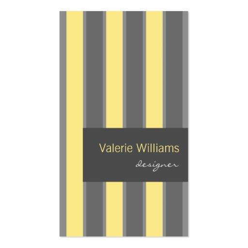 Plantilla gris amarilla moderna de la tarjeta de v tarjetas de visita