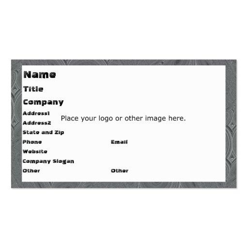 Plantilla gris circular de la tarjeta de visita