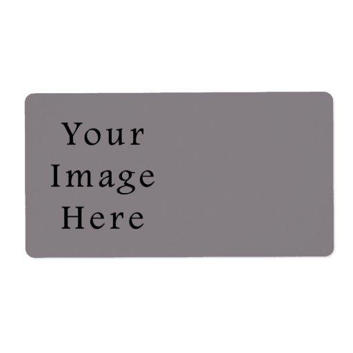 Plantilla gris del espacio en blanco de la tendenc etiquetas de envío