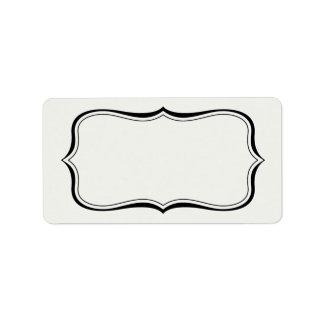 Plantilla grisácea de la etiqueta de la frontera d etiqueta de dirección