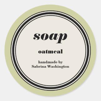 Plantilla hecha a mano de la etiqueta del jabón