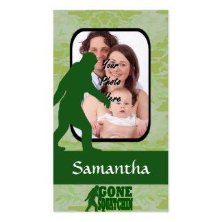 Plantilla ida de la foto del squatchin tarjetas de visita