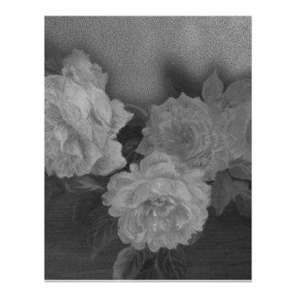 Plantilla ilustrada del personalizado de los rosas membrete personalizado