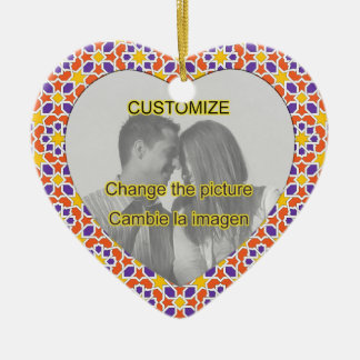 Plantilla imagen personalizada. Fondo de Marruecos Adorno De Navidad