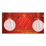 Plantilla individual de la foto de tres navidad tarjeta fotografica