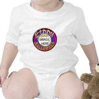 Plantilla infantil de la enredadera del feliz traje de bebé
