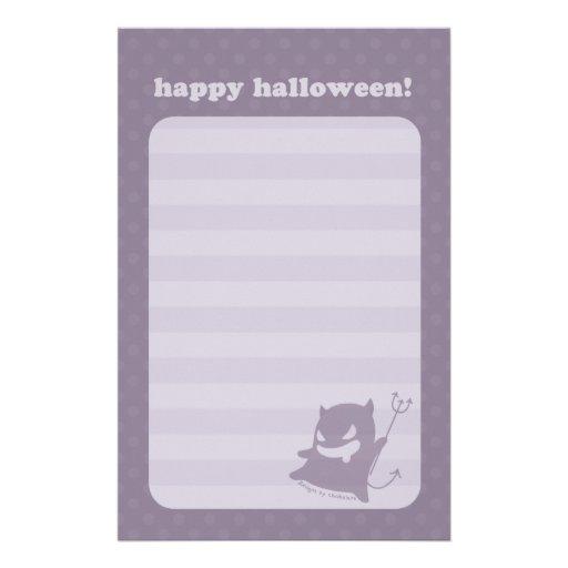 Plantilla inmóvil del diablo de Halloween Papeleria Personalizada