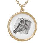 Plantilla inteligente del caballo del vintage collares