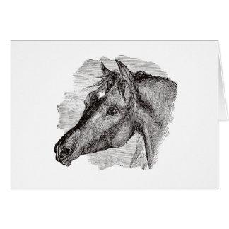 Plantilla inteligente del caballo del vintage tarjeta