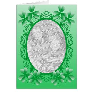 Plantilla irlandesa del marco de la foto tarjeta de felicitación