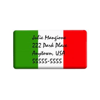 Plantilla italiana clásica de la etiqueta de la di etiqueta de dirección