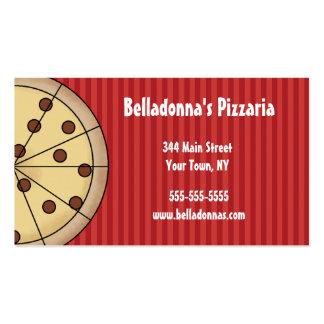 Plantilla italiana de la tarjeta de visita de Pizz