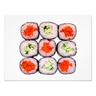 Plantilla japonesa de la comida de Rolls del sushi Fotografías