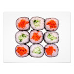 Plantilla japonesa de la comida de Rolls del sushi Arte Fotográfico